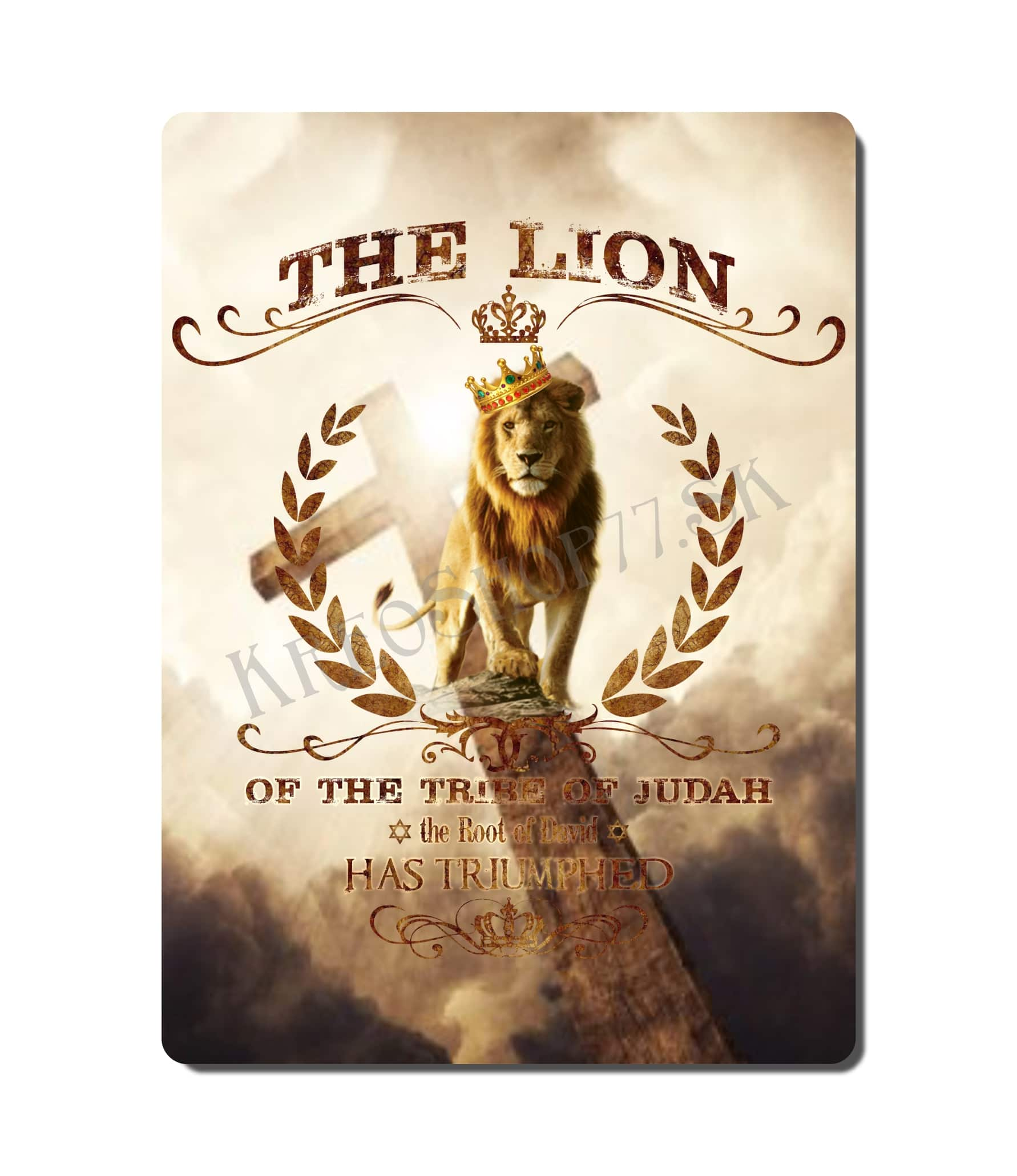 Kresťanský poster - The Lion of Judah 01