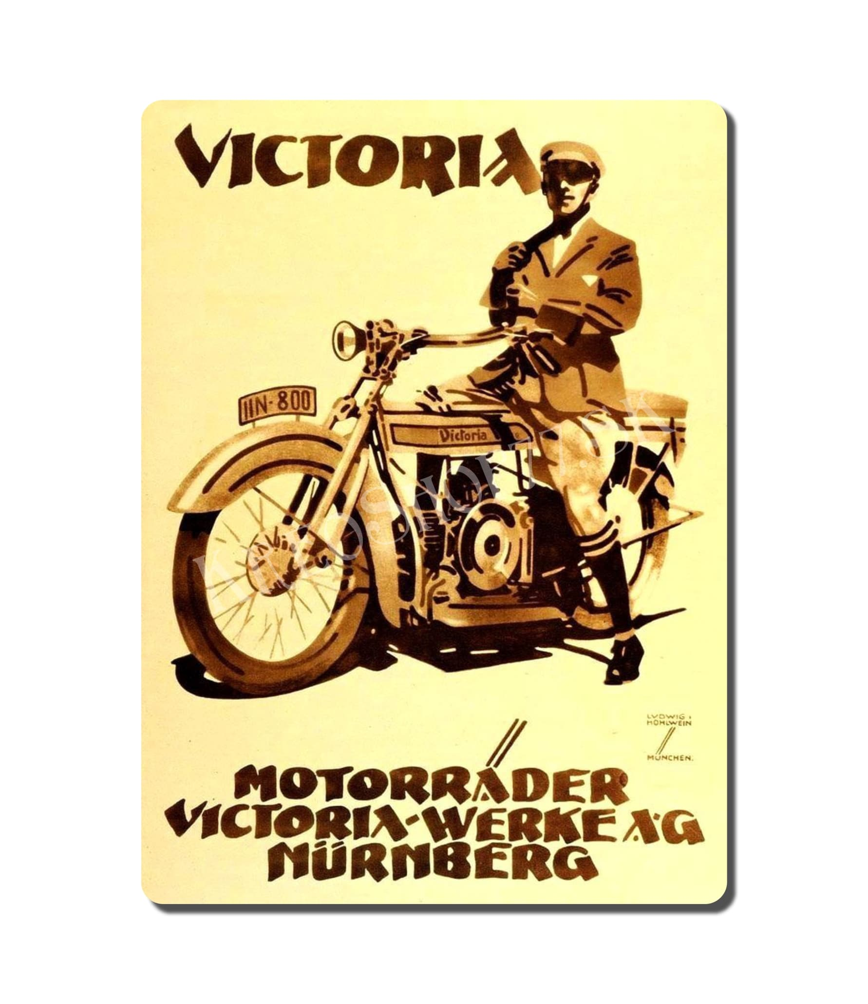 Retro Poster Motorcycle 003