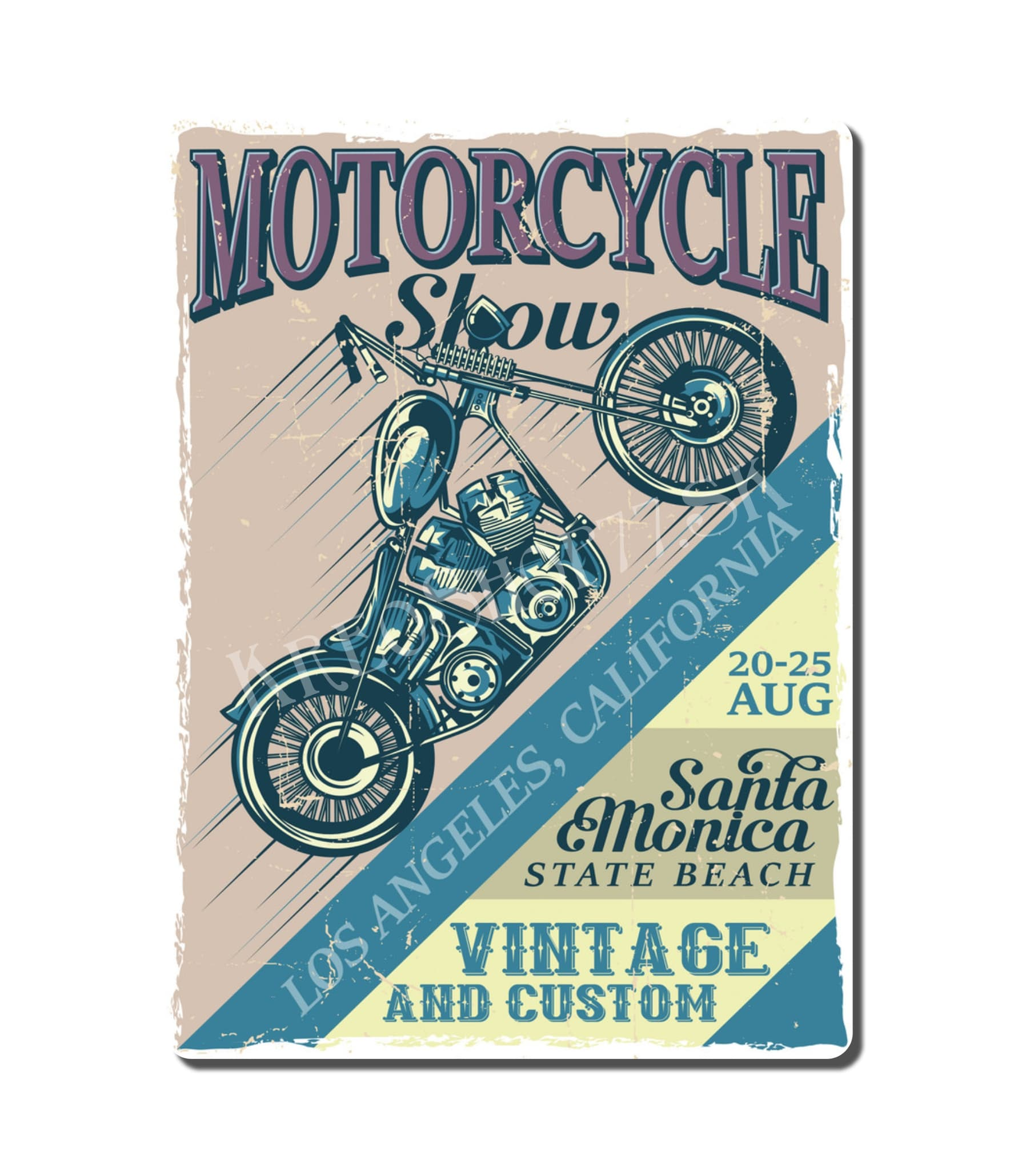 Retro Poster Motorcycle 009