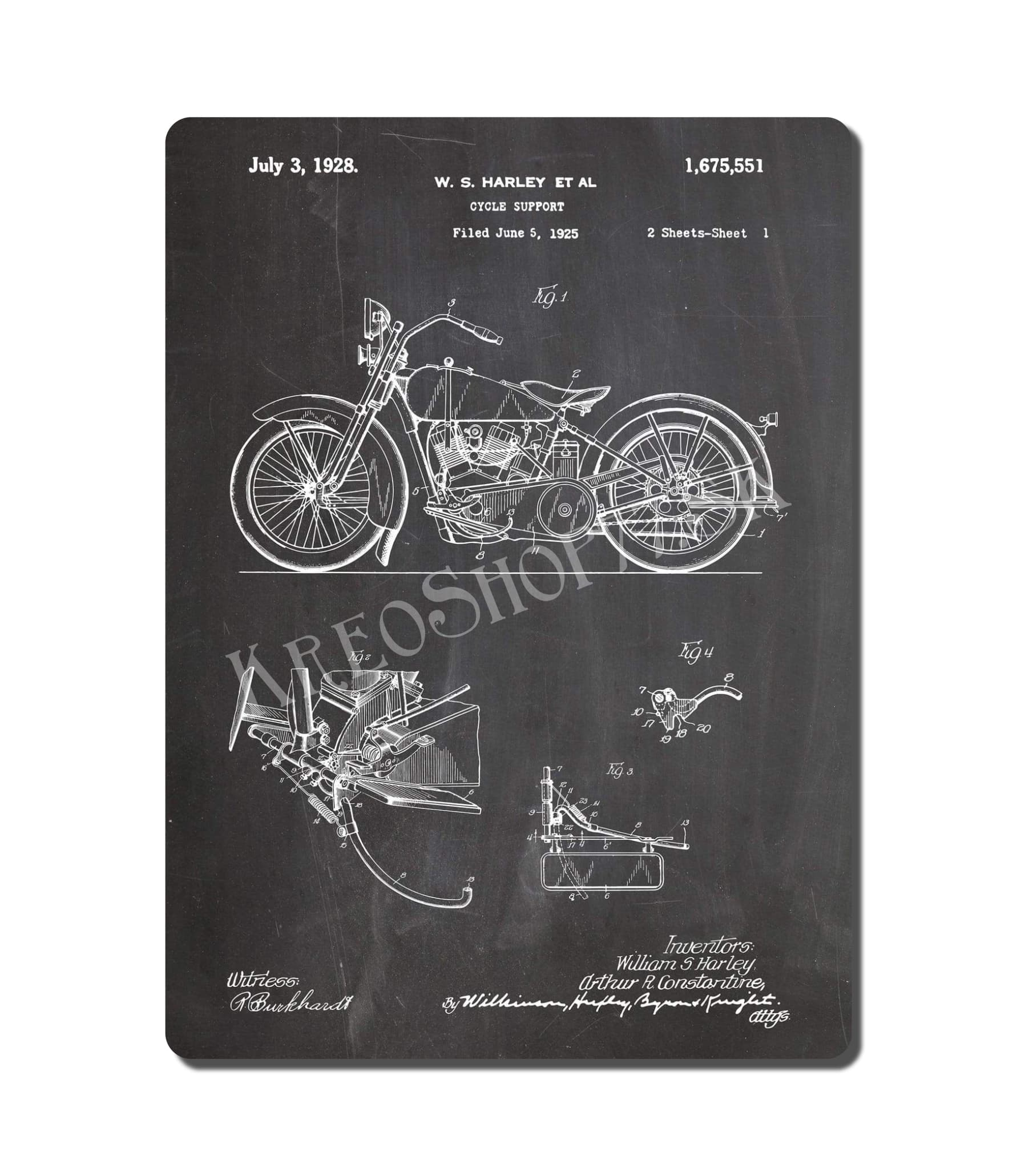 Retro Poster PAT Motorcycle 003