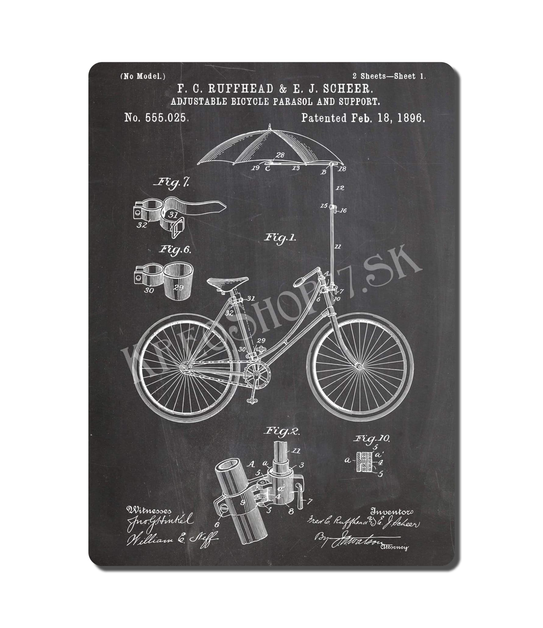 Retro Poster PAT Bicycle 001
