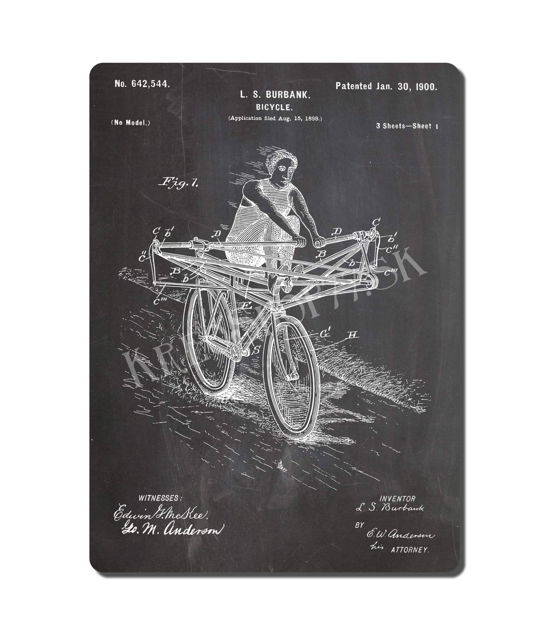 Retro Poster PAT Bicycle 003